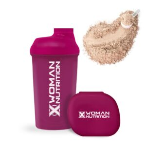 SHAKER + PILLOLIERA<strong></br> XWoman Nutrition colore fucsia</strong>