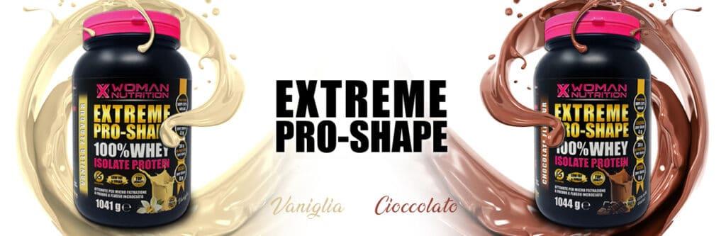 XWoman Nutrition - Extreme Pro-Shape Whey Isolate Protein 100% 1044 g – Vaniglia e Cioccolato - perfetto per il recupero post workout - Integratore Alimentare