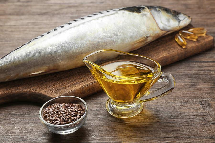 merluzzo, olio e semi di lino