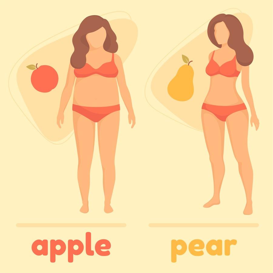 corpo a pera e corpo a mela a confronto